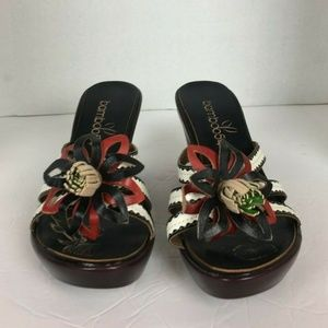 Bamboo54 Women's Multi color Wedge Shoes Size 38